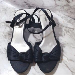 Black dressy kitten heels